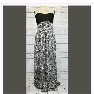 Charlotte Russe Zebra Print Sleeveless Maxi Dress